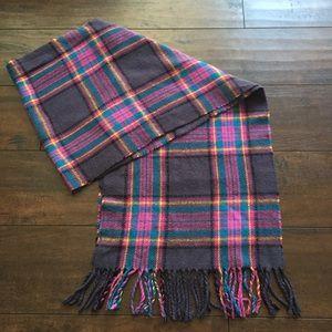 Accessories - Plaid purple scarf